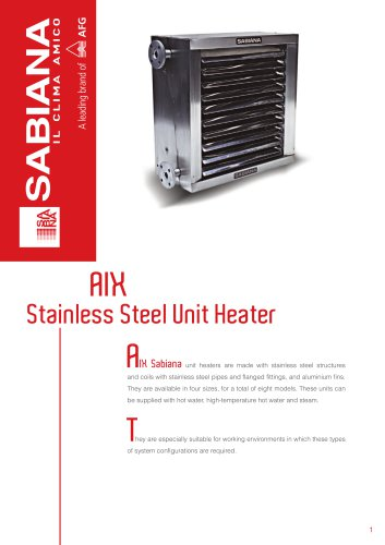 AIX Stainless Steel Unit Heater