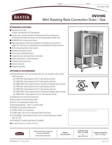 OV310G Mini Rotating Rack Convection Oven ? Gas