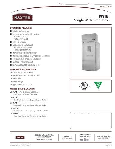 PW1E Single Wide Proof Box