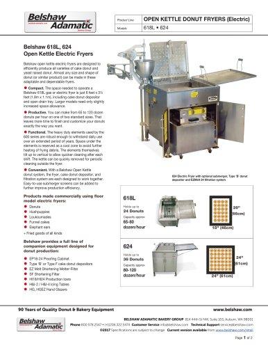 Belshaw 618L, 624 Open Kettle Electric Fryers