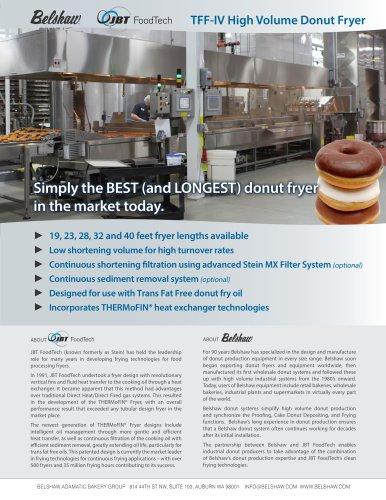 Belshaw-JBT FoodTech High Volume Industrial Donut System