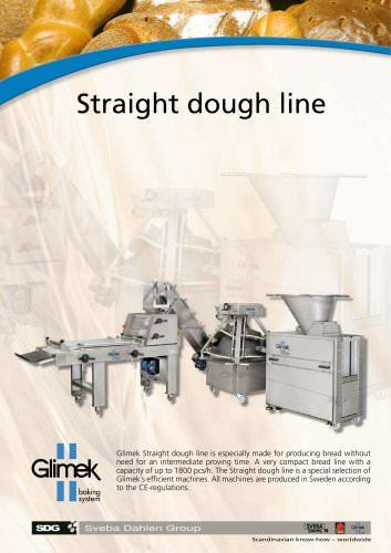 Straight dough line