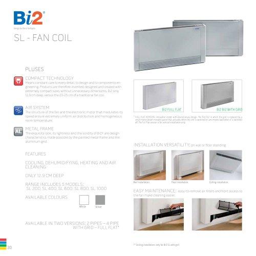 Bi2 SL - FAN COIL