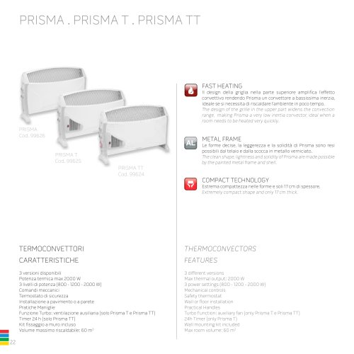 PRISMA . PRISMA T . PRISMA TT