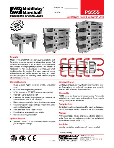 Electrically Heated Conveyor Oven