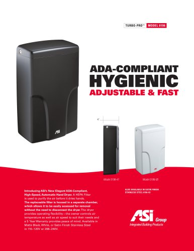 ASI High-Speed Accessibility Compliant Hand Dryer