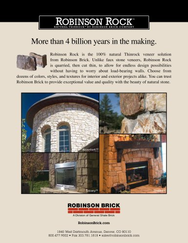 CATALOGUE ROBINSON ROCK