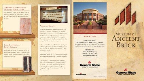 Museum of Ancient Brick Brochure
