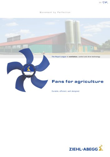 Fans for agriculture