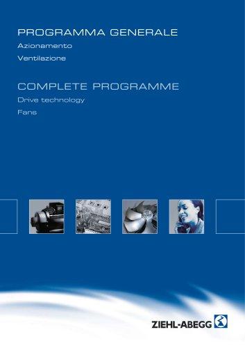 Programma complessivo tecnica di ventilazione e di azionamento