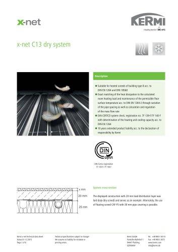 x-net C13 dry system