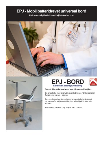 EPJ - Mobil batteridrevet universal bord