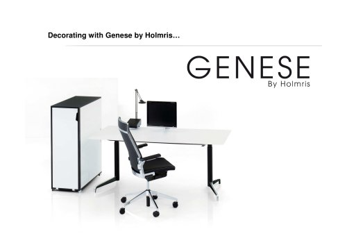 """GENESE: """"Decorate with GENESE"""""""