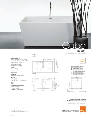 BC 08-01 The Cube Collection