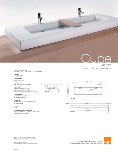 VC 72T The Cube Collection