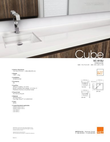 VC 815U The Cube Collection