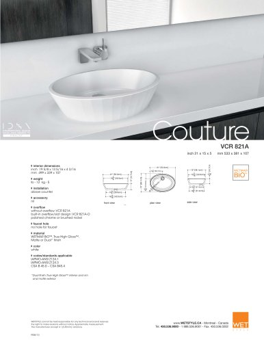 VCR 821A The Couture Collection