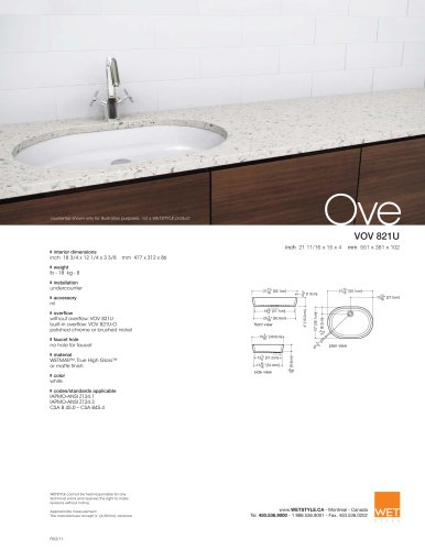 VOV 821U The Ove Collection