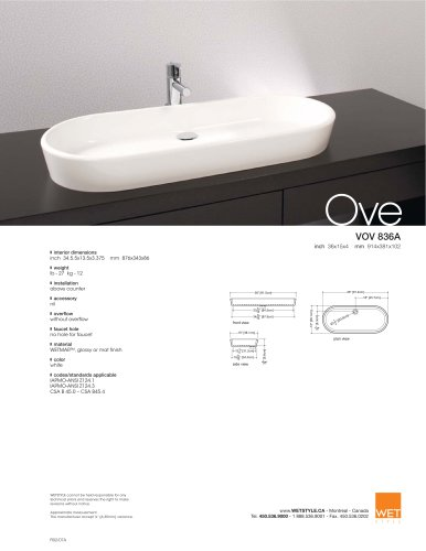 VOV 836A The Ove Collection