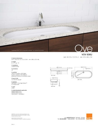 VOV 836U The Ove Collection