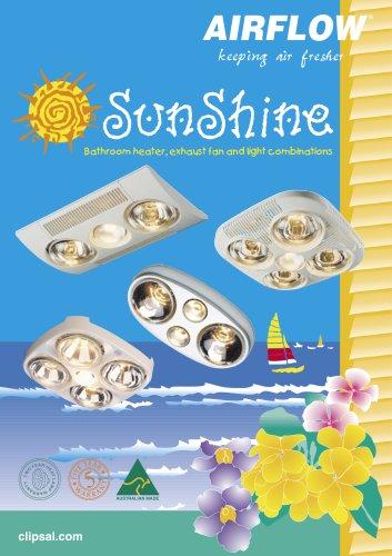 Sunshi_ne Bathroom Heater, Exhaust Fan and Light Combinations