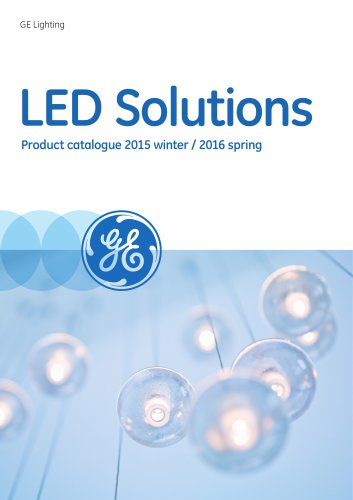 LED Solutions Product catalogue 2015 winter / 2016 spring