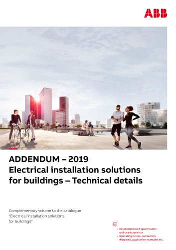 ADDENDUM – 2019 Electrical installation solutions for buildings – Technical details