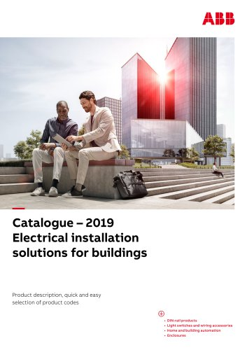 Catalogue – 2019 Electrical installation solutions for buildings
