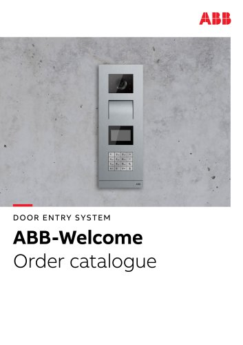 DOOR ENTRY SYSTEM ABB-Welcome Order catalogue