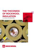 THE THICKNESS OF ROCKWOOL INSULATION