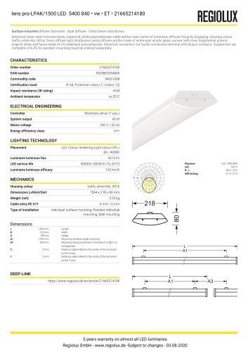 lens pro-LPAK/1500 LED 5400 840