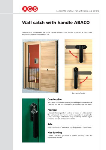 Wall catch with handle ABACO