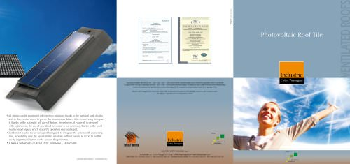 Brochure Photovoltaic Roof Tile