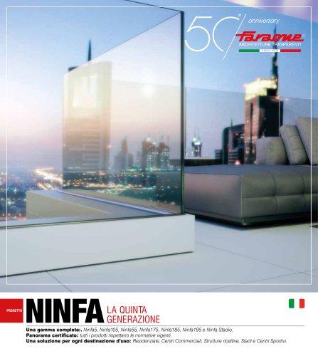 Catalogo Ninfa, la quinta generazione. Balaustre in vetro e alluminio