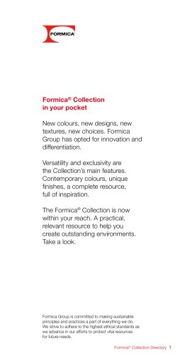 Formica® Collection Directory