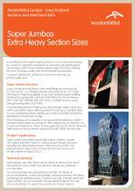 Super Jumbos Extra Heavy Section Sizes