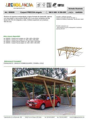 Art. 095020 Carport FRECCIA singolo