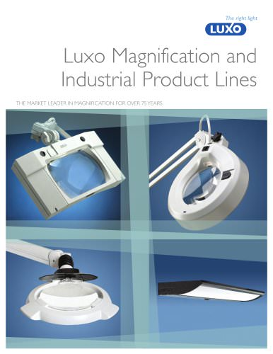 NEW! 2012 Luxo Magnification and Industrial Product Lines Brochure