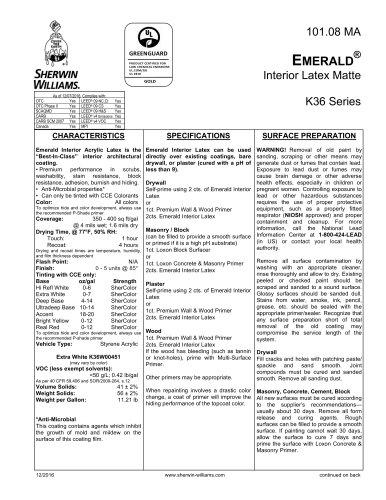 EMERALD ® Interior Latex Matte