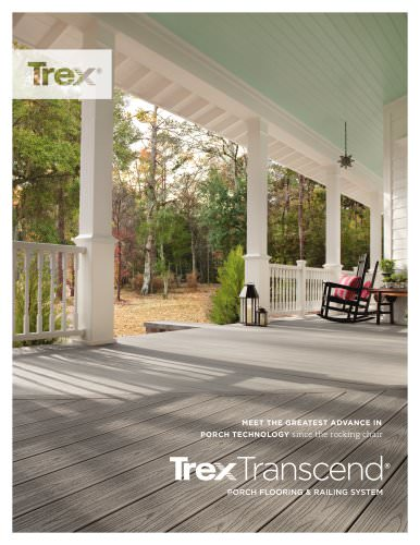 Trex transcend porch brochure