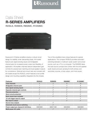 R-Series Data Sheet
