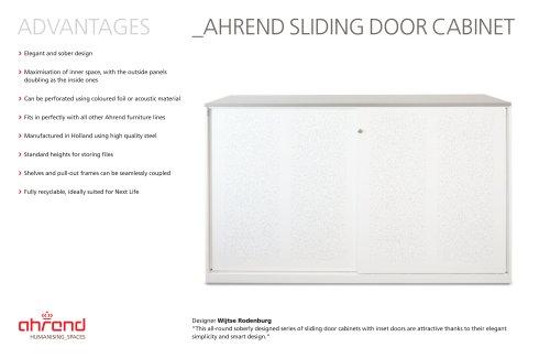 AHREND SLIDING DOOR CABINET