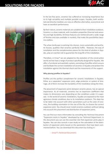 Solutions for façades