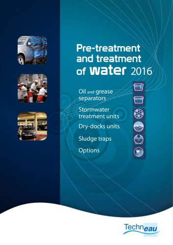 Pre-treatment and treatment of water 2016