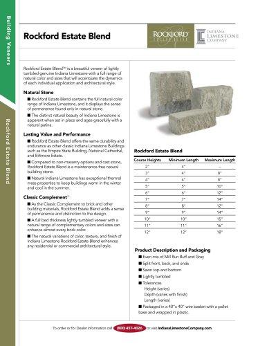 Building Veneers:Rockford Estate Blend