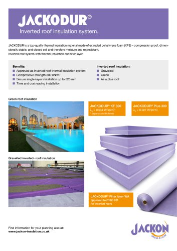 Jackodur Inverted roof insulation system.