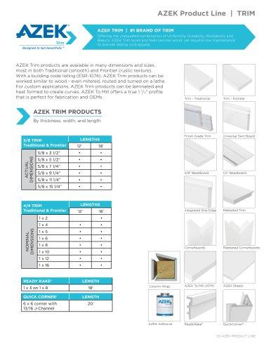 AZEK Product Line | TRIM