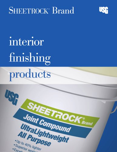 SHEETROCK Brand Interior Finishing Products Catalog