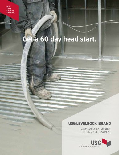 USG Levelrock® Brand CSD™ Early Exposure Floor Underlayment