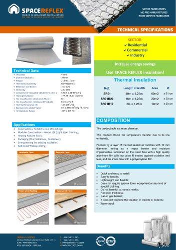 Insulation SPACEREFLEX SR01